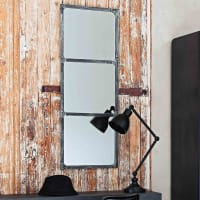 rust effect metal mirror H 120cm Cargo