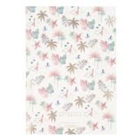 Carnet de notes à spirales en papier feuilles tropicales