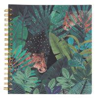 Carnet de notes à spirales imprimé jungle