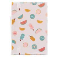 Carnet de notes en papier blanc imprimé fruits