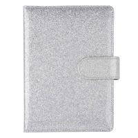 Carnet de notes gris à paillettes