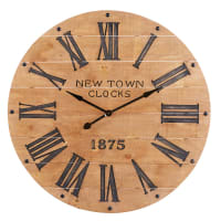 Carved Pine Clock D110 New Town