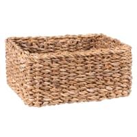 Cesta cuadrada de fibra vegetal 22 x 22 cm
