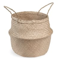 Cestino tailandese in fibra vegetale H 47 cm