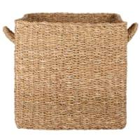 Cesto contenitore in fibra vegetale