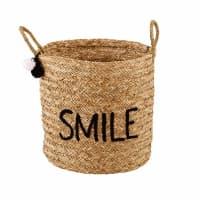 Cesto de fibras bordado Smile Joy