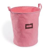 Cesto portabiancheria rosa in cotone Lilas