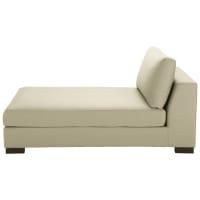 Chaise longue beige-grigio chiaro in cotone Terence