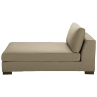 Chaise longue color talpa in cotone Terence