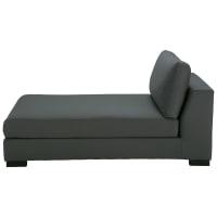 Chaise longue grigio ardesia in cotone Terence