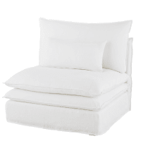 Chauffeuse de canapé en lin blanc Pompei