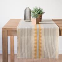 Chemin de table en coton imprimé graphique 48x150 Sun