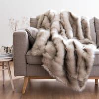 Chestnut Faux Fur Throw 150x180 Imeon
