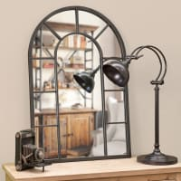 rust effect metal mirror H 90cm Cheverny
