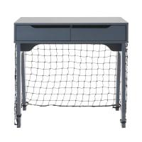 Children's Blue 2-Drawer Football Goal Desk Petit Bolide