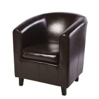 Club armchair in brown Nantucket
