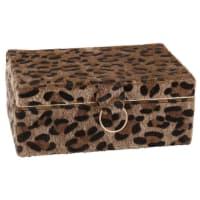 Cofanetto portagioie stampa leopardo Panthera