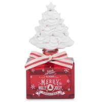 TRADI - Coffret diffuseur sapin en verre rouge et blanc parfum pâtisserie 30 ml