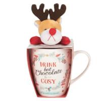 YVAN - Coffret mug en porcelaine et peluche cerf