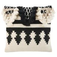 Cojín bereber de lana y algodón 50x50