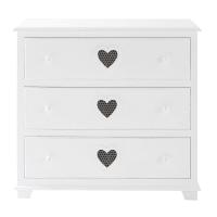 Commode en bois blanc L 90 cm Valentine