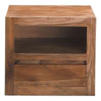 Comodino in massello di legno di sheesham con cassetto Stockholm