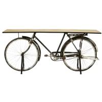 Consola bicicleta industrial de mango y metal negro Bicyclette