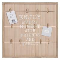 Cornice fotografica multipla in legno di pino 48x48 Enjoy