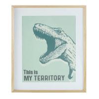 Cornice stampa T-Rex verde, 55x65 cm Dino