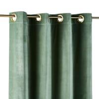 Cortina de ojales de terciopelo verde tilo 140x300 - la unidad