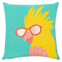 Cotton Cushion Cover with Parrot Print 40x40 Funny