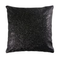 Coussin à paillettes noires 42x42 Univers