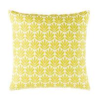Coussin d'extérieur motifs graphiques jaunes 45x45 Maely