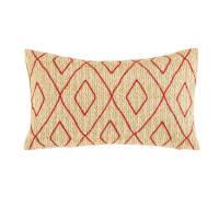 Coussin d'extérieur motifs graphiques rouges 30x50 Cusco