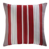ESPELETTE - Coussin de jardin en tissu rayé rouge et blanc 45x45