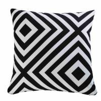 NAHIRA - Coussin de jardin motifs géométriques noirs et blancs 45x45