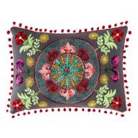 Coussin en coton multicolore 30 x 50 cm Hiascio