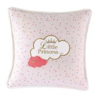 Coussin en coton rose 40 x 40 cm Little Princesse