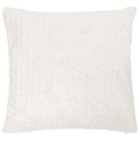 Coussin en fausse fourrure blanche 45 x 45 cm Kall