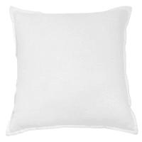 Coussin en lin lavé blanc 45x45