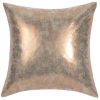 Coussin en tissu doré 40 x 40 cm Goldused