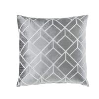 Coussin en velours gris motifs graphiques 45x45 Gatsby