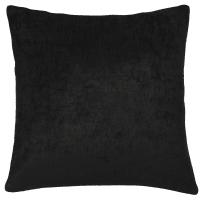 Coussin en velours noir 60x60 Vint