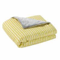 Couverture bébé en coton jaune/gris 75 x 100 cm Gaston
