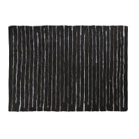 Cowhide and Cotton Rug with Striped Print 140x200 Mahdi