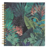 Cuaderno de notas de espiral con estampado de jungla