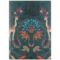 KIERA - Cuaderno de notas en verde con estampado exótico de jungla