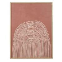 CRISTIA - Cuadro con estampado terracota y beige 75 x 100 cm