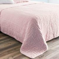 Cubrecamas de piqué de terciopelo rosa 240x260 cm
