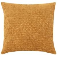 MISAMIS - Cuscino a rilievi giallo senape 45 x 45 cm